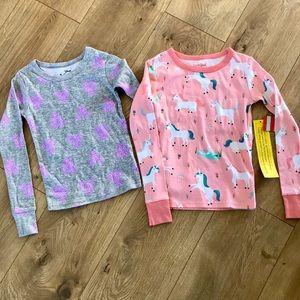 Girls Pink Unicorn & Minnie Mouse Sleep Shirts NWT